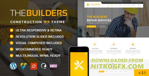 ThemeForest - The Builders v2.2 - Construction WordPress Theme - 19079511