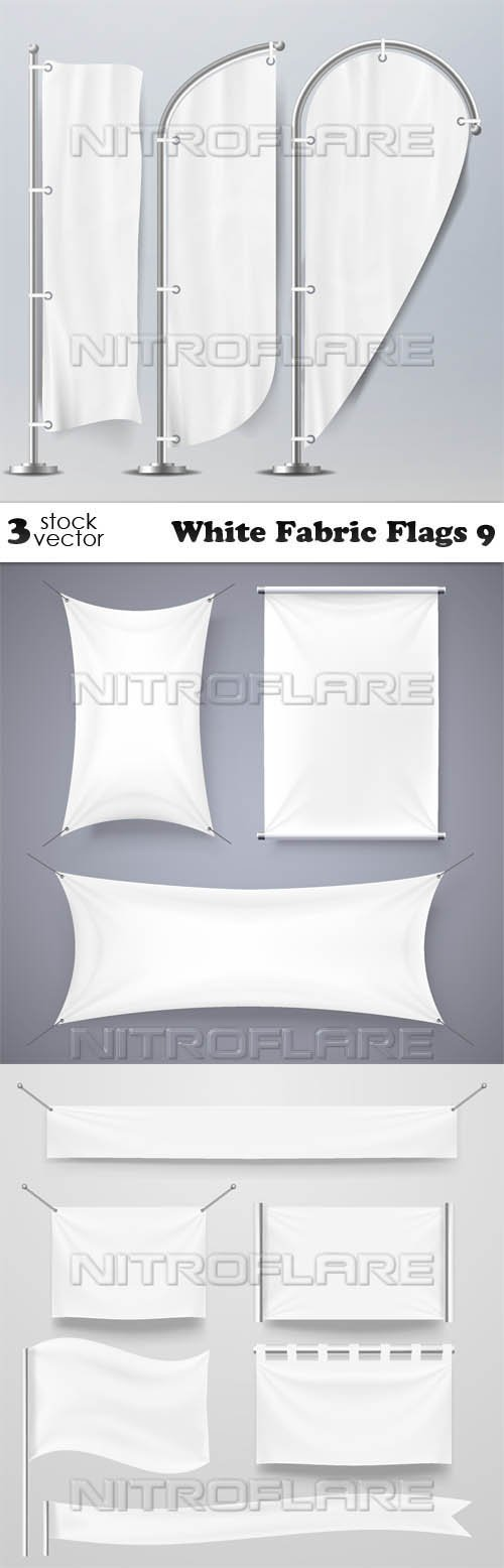Vectors - White Fabric Flags 9