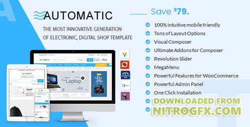 ThemeForest - Automatic v1.7 - WooCommerce Theme for Electronic, Computer, Digital Store - 19585758