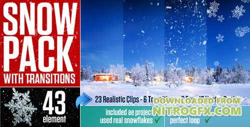 Snow Pack with Transitions - Motion Graphics & ae (Videohive)