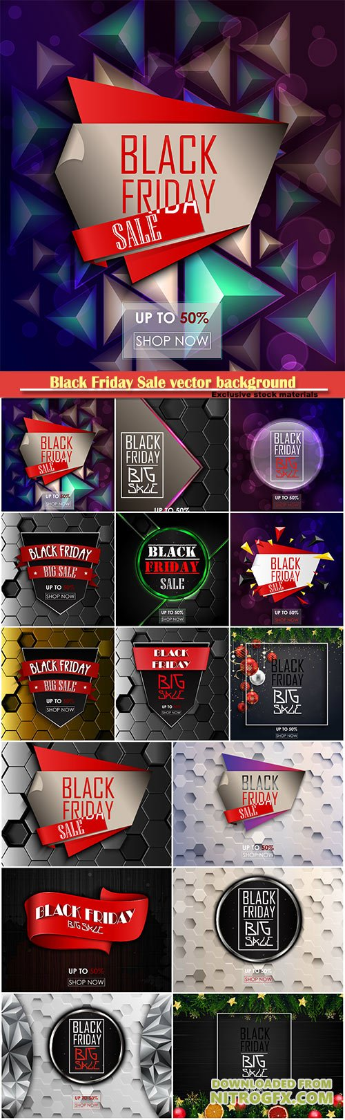 Black Friday Sale vector background, shopping offer and promotion