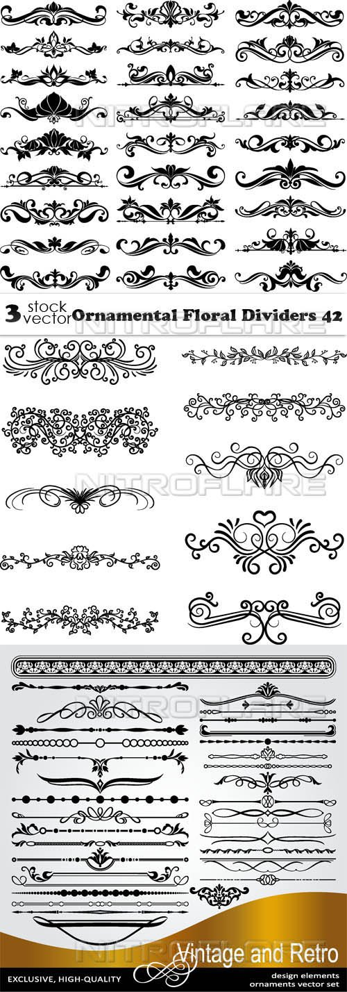Vectors - Ornamental Floral Dividers 42