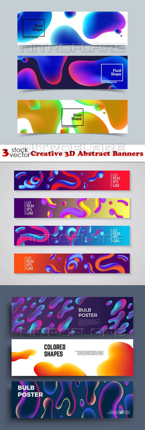 Vectors - Creative 3D Abstract Banners