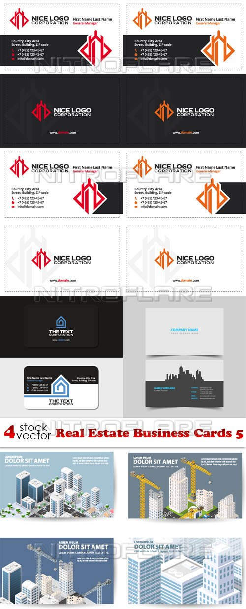 Vectors - Real Estate Business Cards 5