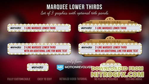 Marquee Lower Thirds - Project for After Effects (Videohive)