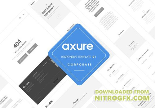 axure tablet template - axure responsive corporate template cm 1366590