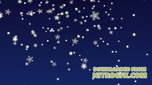 Footage - Christmas snowflakes falling on dark blue background