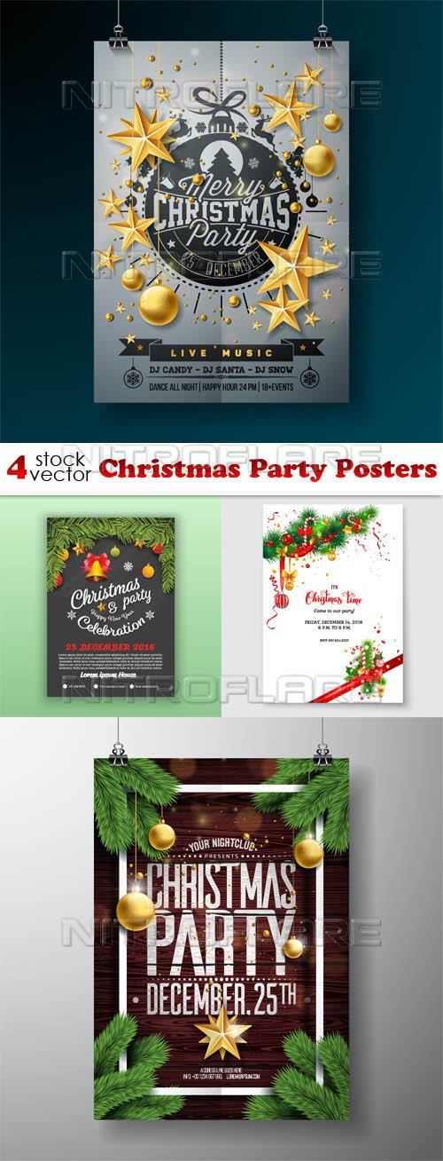 Vectors - Christmas Party Posters
