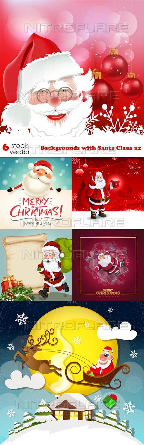 Vectors - Backgrounds with Santa Claus 22