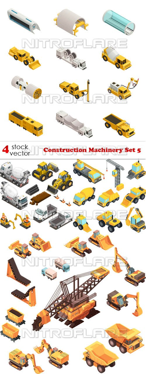 Vectors - Construction Machinery Set 5