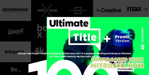 Ultimate Text | 100 Titles Animation - Project for After Effects (Videohive)