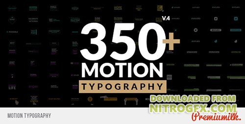 Motion Typography 20645019 - Project for After Effects (Videohive)