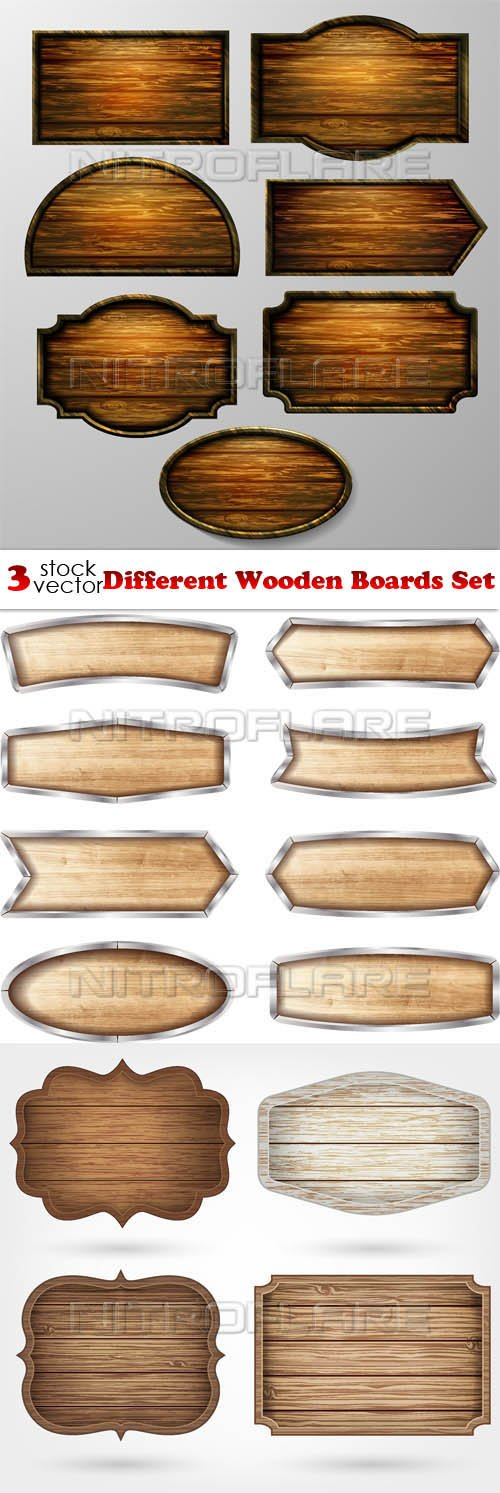 Vectors - Different Wooden Boards Set