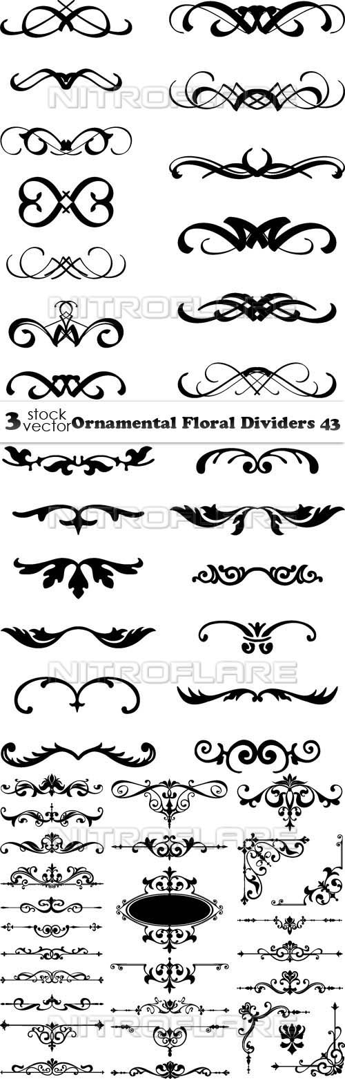 Vectors - Ornamental Floral Dividers 43