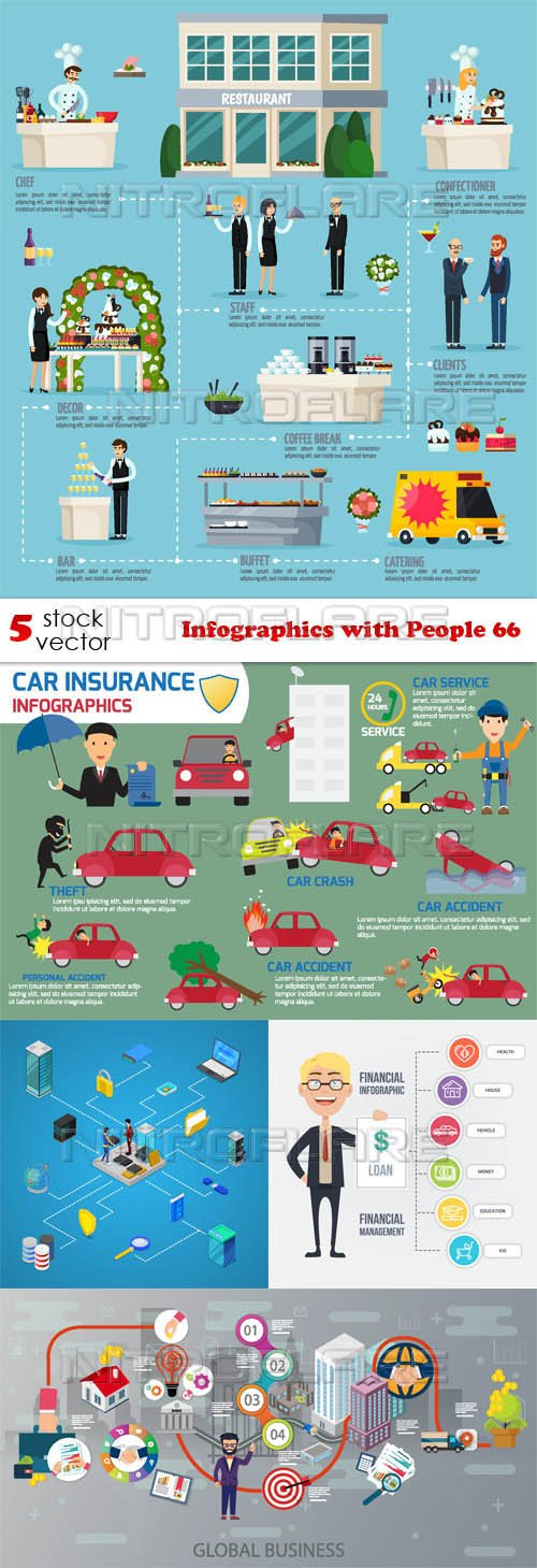 Vectors - Infographics with People 66