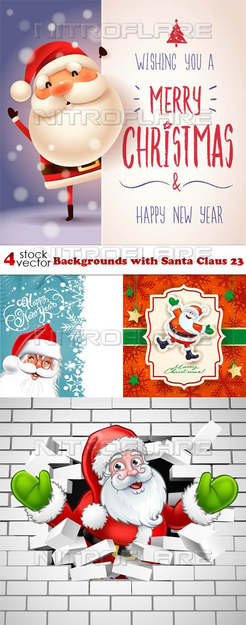 Vectors - Backgrounds with Santa Claus 23