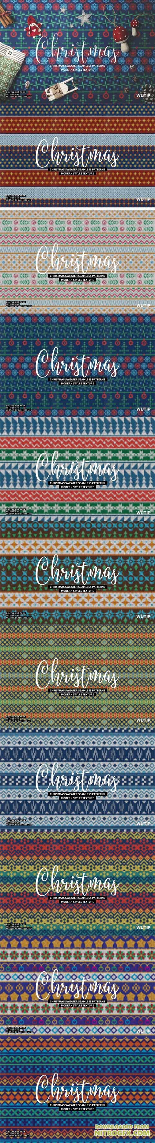 Christmas Sweater Seamless Patterns