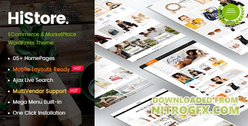 ThemeForest - HiStore v1.0.1 - Clean Fashion, Furniture eCommerce & MarketPlace WordPress Theme (Mobile Layouts Included) - 20906824