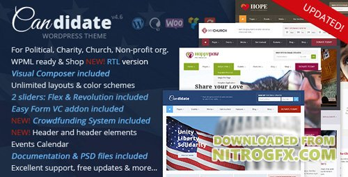 ThemeForest - Candidate v3.2 - Political Nonprofit Church WordPress Theme - 10051778
