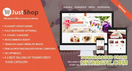 ThemeForest - Cake Bakery WordPress Theme - Justshop v7.65 - 4747148