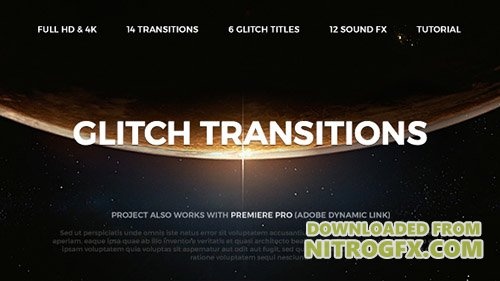Glitch Transitions 20479670 - Project for After Effects (Videohive)