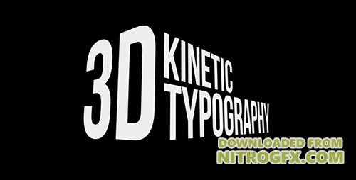 3D Kinetic Typography Titles - Project for After Effects (Videohive)