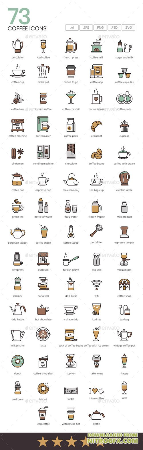 Coffee Icons 21025519