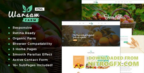 ThemeForest - Warsaw v1.0 - Organic Food, Agriculture, Farm Services and Beauty Products HTML Template - 19177557