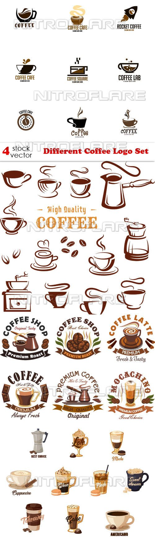 Vectors - Different Coffee Logo Set
