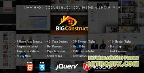 ThemeForest - Big Construct v1.0 - Construction Building Company - 20622712