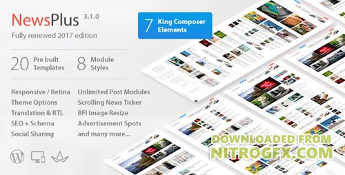 ThemeForest - NewsPlus v3.1.5 - News and Magazine WordPress theme - 4208250