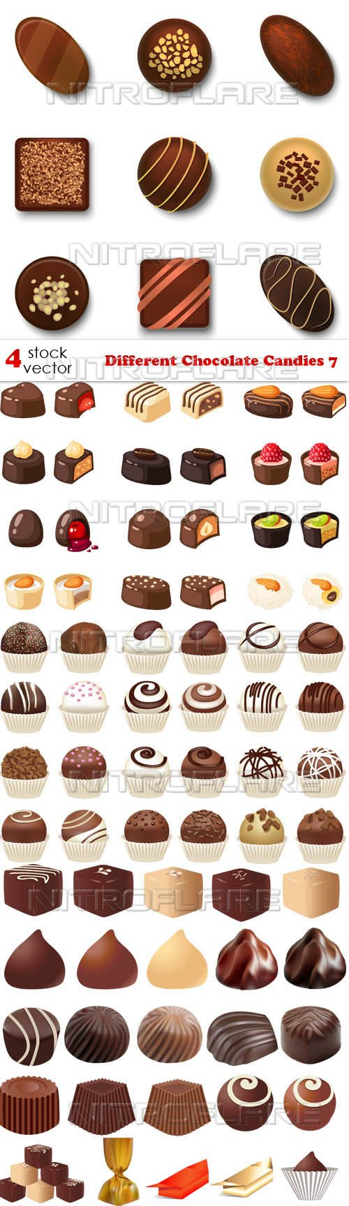 Vectors - Different Chocolate Candies 7