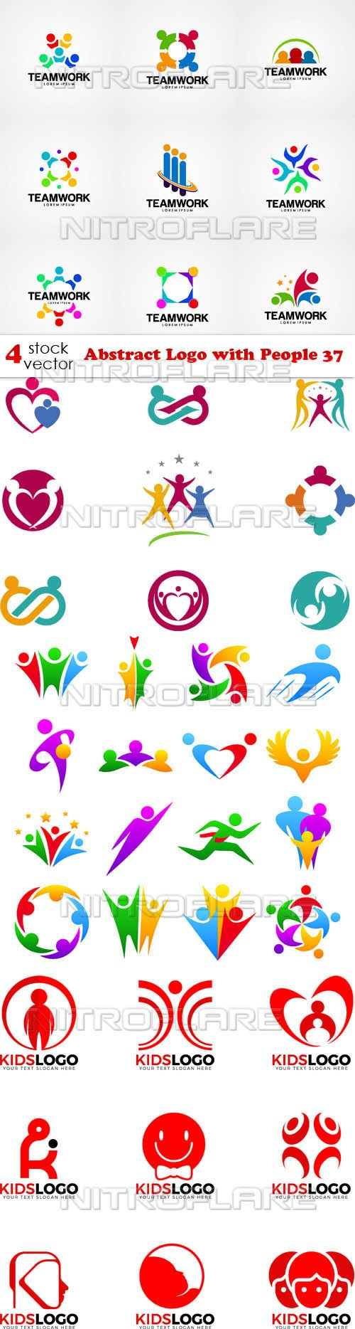 Vectors - Abstract Logo with People 37
