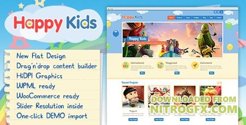 ThemeForest - Happy Kids v3.4.4 - Children WordPress Theme - 4452871