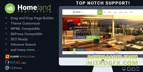 ThemeForest - Homeland v3.1.8 - Responsive Real Estate Theme for WordPress - 6518965