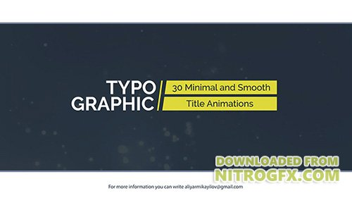 Typographic - 30 Title Animations - Project for After Effects (Videohive)