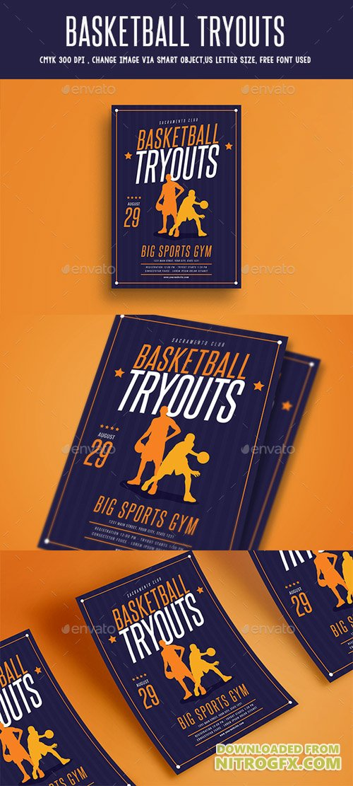 Basketball Tryouts Flyer 20384382