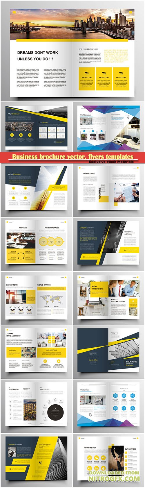 Business brochure vector, flyers templates, report cover design # 96