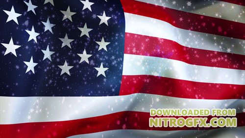 Christmas background , Falling snowflakes, USA, Flag of USA, Happy New Year
