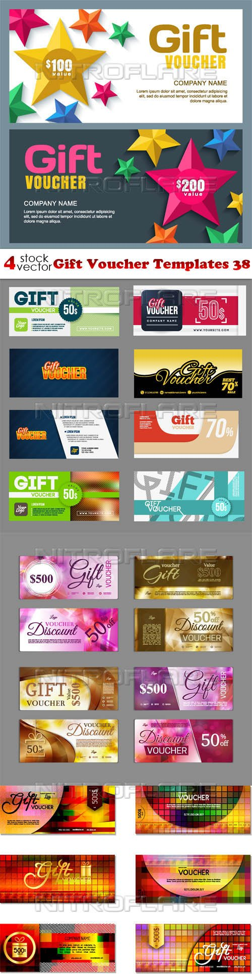 Vectors - Gift Voucher Templates 38