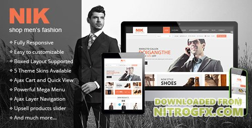 ThemeForest - Nik v1.0.3 - Responsive Magento Fashion Theme - 8557614