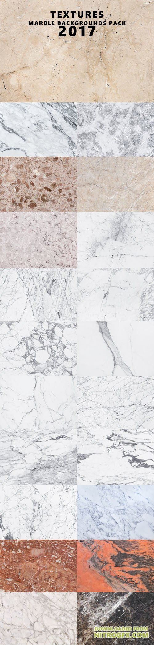 Textures - Marble Backgrounds Pack 2017