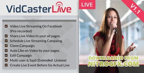 CodeCanyon - VidCasterLive v1.1 - Facebook Live Streaming With Pre-recorded Video - 20899401