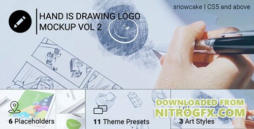Hand Is Drawing Logo Mockup Volume 2 | Corporate - Project for After Effects (Videohive)