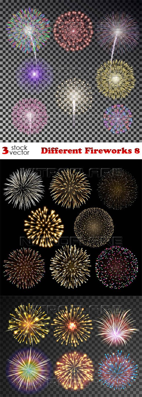 Vectors - Different Fireworks 8