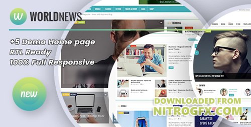 ThemeForest - WorldNews v1.1 - Magazine RTL Responsive WordPress BlogMagazine - 20531328