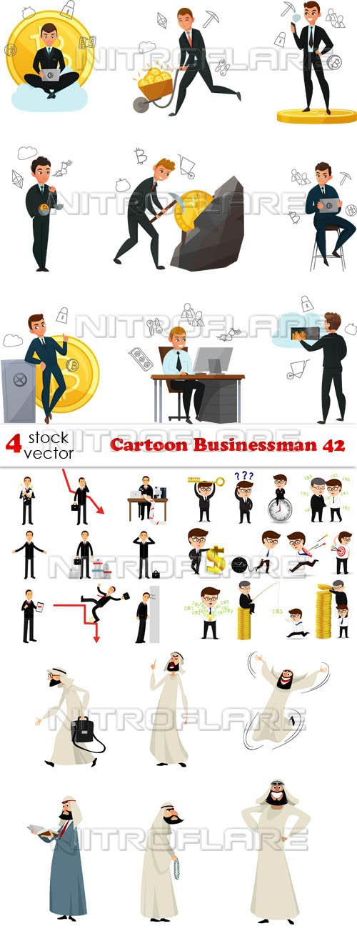 Vectors - Cartoon Businessman 42