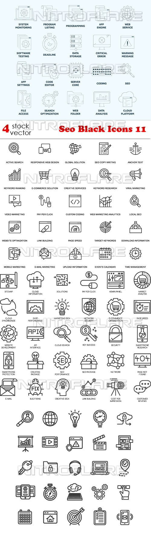 Vectors - Seo Black Icons 11