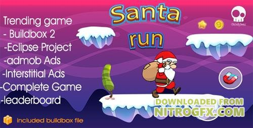 CodeCanyon - Santa Runner v1.0 & + Buildbox 2 file + Admob + Leaderboard + Review + Share Button - IOS - 19118046