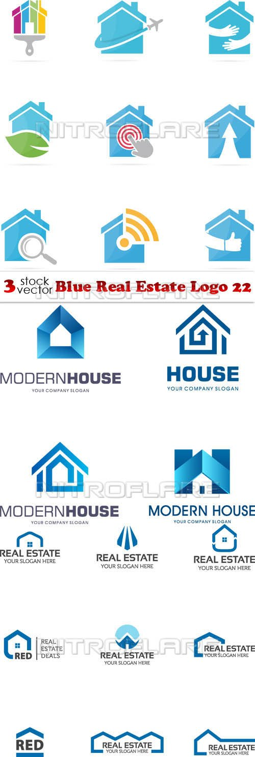 Vectors - Blue Real Estate Logo 22